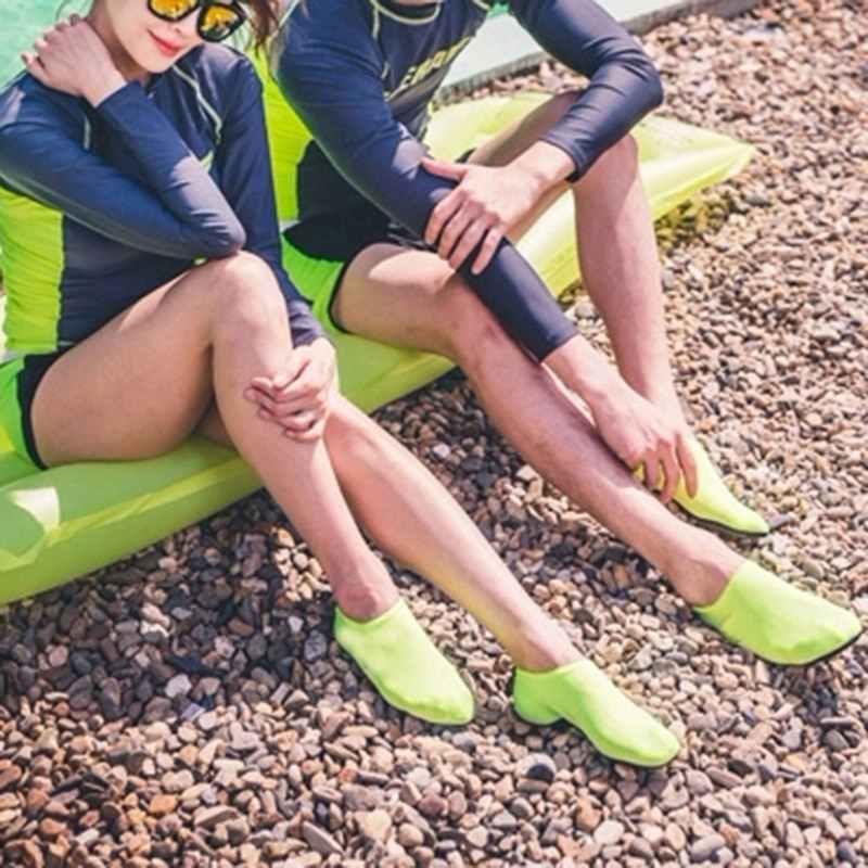 Mężczyźni kobiety buty do wody wodnej, buty na plażę pływanie Aqua płaski miękki chód kochanek buty do jogi antypoślizgowe trampki Unisex