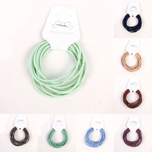 10pcs/lot Cute Girl Ponytail Holder Hair Ties Hair Accessories Thin Elastic Rubber Band For Kids Solid Color Hair Rope Hair Ring(China)