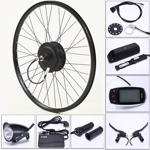Image 1 - 電動自転車変換キット48v 500ワット13AH usbマウンテンバイクホイールモータ用26/29インチ電動自転車accessori