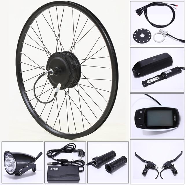 電動自転車変換キット48v 500ワット13AH usbマウンテンバイクホイールモータ用26/29インチ電動自転車accessori