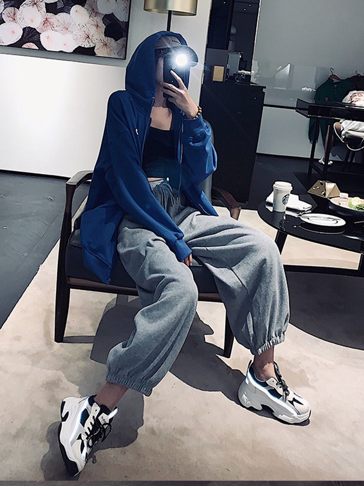 Sports Pants Female Spring Winter New Harem Pants Loose-Fit Beam Leg Thick Outer Wear Casual Trousers Women Tracksuit