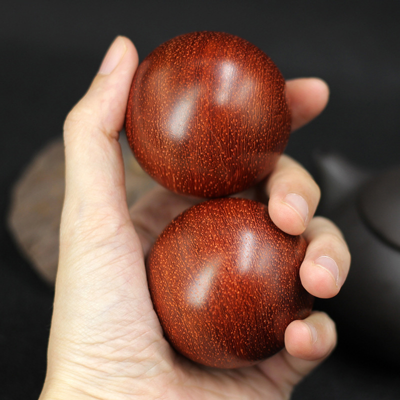 Antistress Red Pear Wood Fitness Ball Rehabilitation Massage Ball Relieve Anxiety Children's Adult Decompression Anti-stress Toy