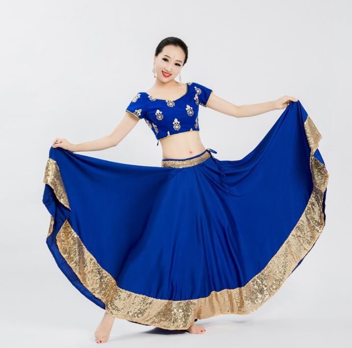 India Sarees Costume Ethnic Style Kurtas Woman Performance Dance Leng Ha Skirt