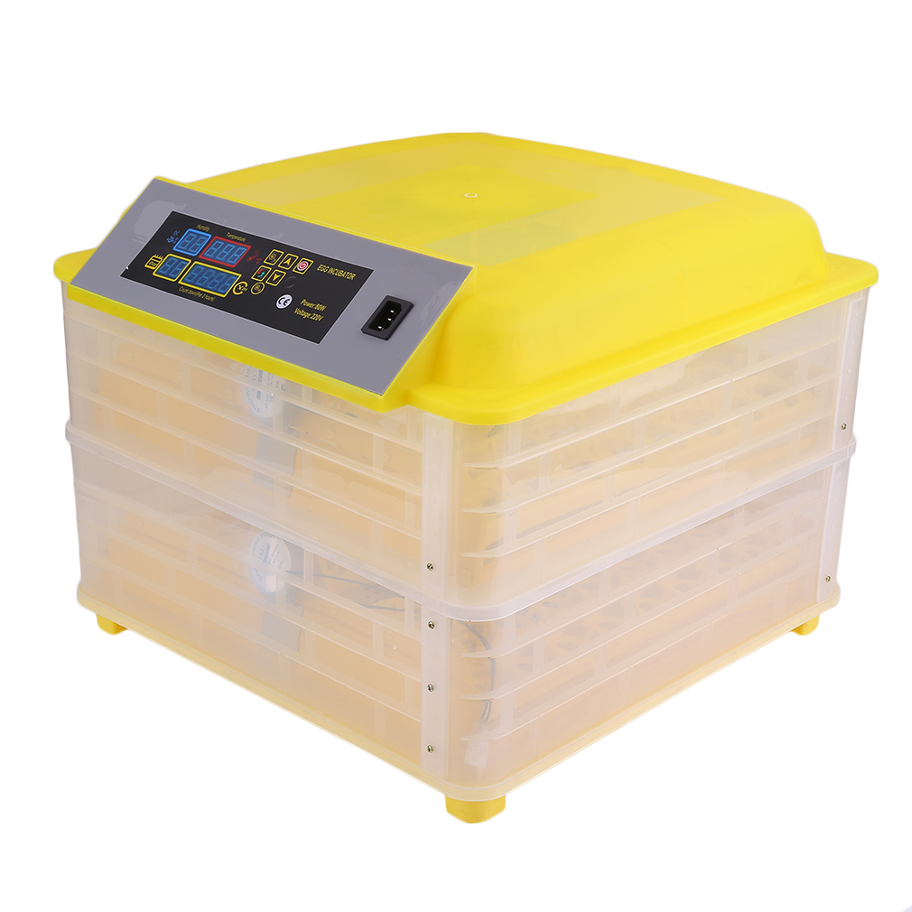 Профессиональная автоматическая курица 96 инкубатор для яиц утка яйцо птицы оборудование для инкубаторов контроль температуры инкубаторов инкубаторная машина Великобритания вилка - 2