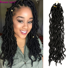 Synthetic Ombre Faux Locs Curly  Soft Crochet Braiding Hair Ombre Crochet Hair Synthetic Braiding Hair Extensions куртка утепленная ombre ombre mp002xm241ow