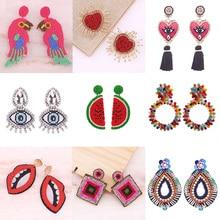 Statement Crystal Oorbellen Voor Vrouwen Handmade Watermelon Pendant Earrings Women Ladies Fashion Accessories Jewelry Gifts
