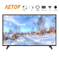 AETOP crt tv 40 inch LED televisores HD smart led tv android 8.0 television