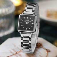 CADISEN-reloj de cuarzo para mujer, diseño elegante y sencillo, con pulsera de regalo, resistente al agua