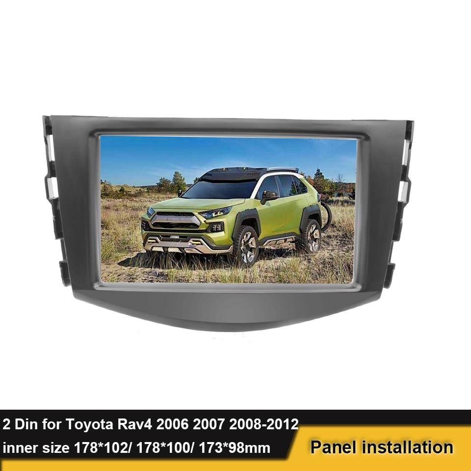 Car Stereo Radio Fascia Panel Trim 2 Din Parts Fit For Toyota RAV4 2006-2012