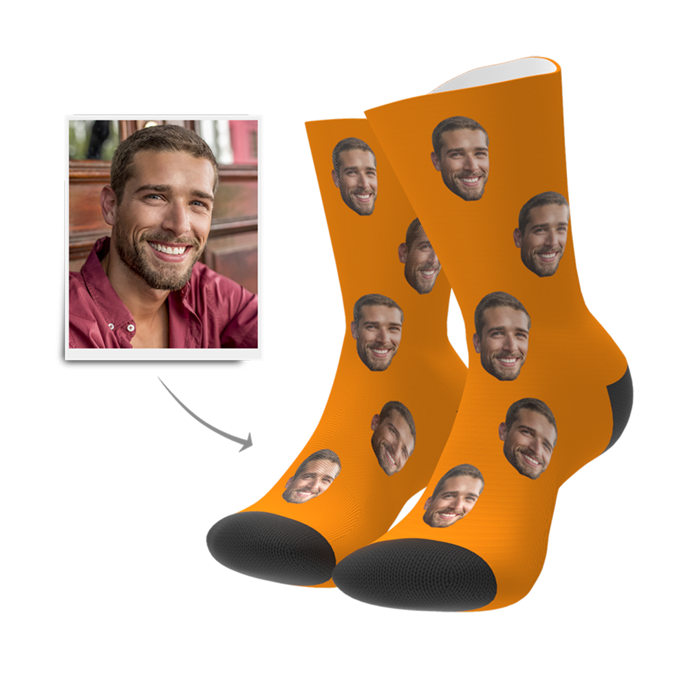 Custom Face Photo Socks Women Men Birthday Funny Valentine's Gift,personalised Head Socks Wedding Keepsake Valentines Present