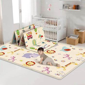 Mata do zabawy dla niemowląt składana mata do domu na zewnątrz mata dla niemowlęcia dwustronna dla dzieci zagraj w piknik gimnastyczny antypoślizgowa wodoodporna mata dla niemowlęcia tanie i dobre opinie Home Babies wodoodporne antypoślizgowe None Wykończony dywan (sztuka) cartoon PRINTED Nowoczesne Baby Play Mat SALON Wyprodukowane maszynowo