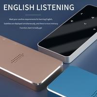 MP4 Player mit Bluetooth Lautsprecher Touch key Gebaut-in 8GB 16GB HiFi Tragbare Walkman mit FM Radio musik aufnahme Player