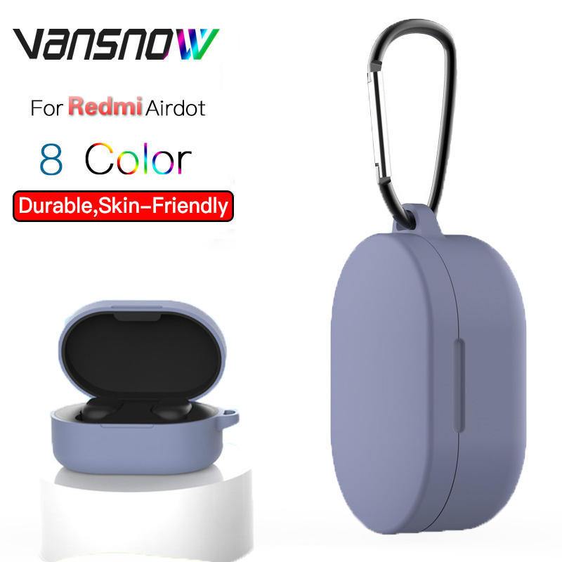 8 Style For Redmi Airdots Silicone Protective Cover Wireless Bluetooth Earphone Case With Hook For Redmi Airdots Case Cover