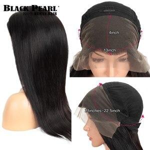 Черные перламутровые 13x4 кружевные фронтальные человеческие волосы, искусственные волосы 8-30 дюймов, предварительно выщипывающиеся бразиль...