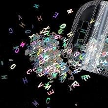 1 saco de arte do prego laser cor flash quatro pontas estrela carta lantejoulas acessórios de decoração do prego 12 tipos diy acessórios de design do prego