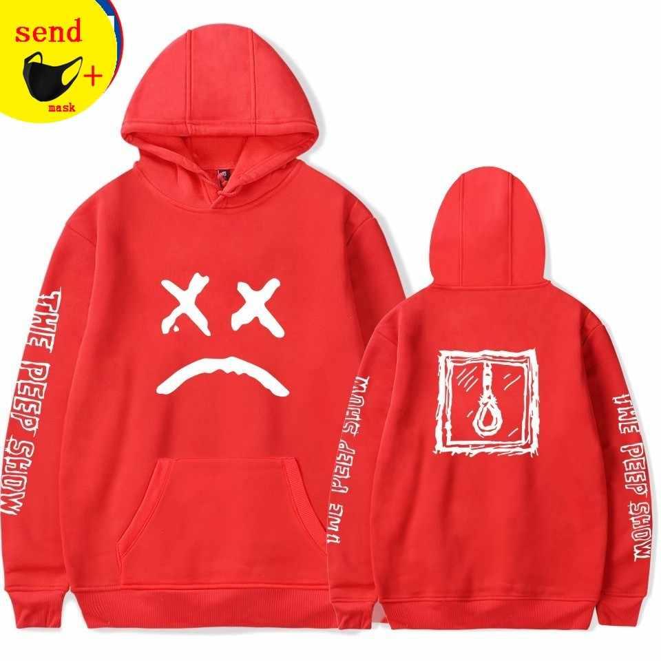 Senden maske Lil peep lustige hoodies 2019 lil peep gedruckt sweatshirts plus größen für männer casual fleece streetwear hoodies