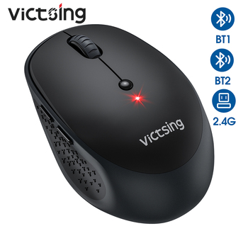 VicTsing PC254 Bluetooth Mouse 3 Modes Wireless Mouse Silent Computer Mouse 2400 DPI Portable USB Optical Mice For PC Notebook bluetooth wireless mouse 2 4g 1200 dpi optical wireless mouse bluetooth 3 0 for laptop notebook pc computer