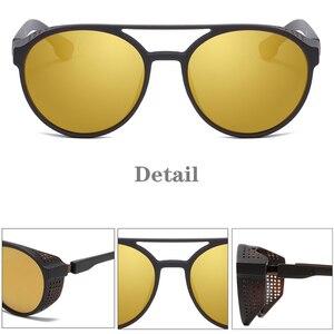 Image 4 - KEITHION Retro Round Polarized Sunglasses Steampunk Men Women Brand Designer Glasses Oculos De Sol Shades UV Protection