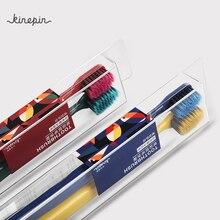KINEPIN, 2 шт., зубная щетка для глубокой очистки, зубная щетка для ухода за зубами, гигиена полости рта, средняя тонкая щетина, зубная щетка для взрослых