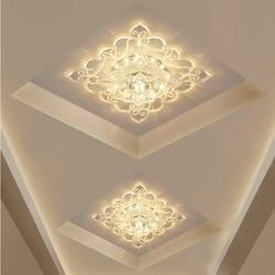 Modern Square Color Headlamp Led Ceiling Lamp Embedded Crystal Aisle Hallway Entrance Lamp Interior Light