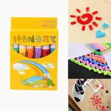 6 шт./компл., волшебная ручка-попкорн для детей DIY Рисунок, Функция пузырь художественный маркер для белой доски