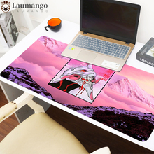 Evangelion Large Gaming Mouse Pad PC Computer Gamer Mousepad Desk Mat Locking Edge for CS GO LOL Dota XXL Design Custom