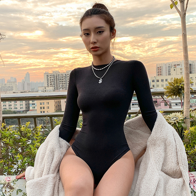 O-Neck Long-Sleeve Bodysuit 5