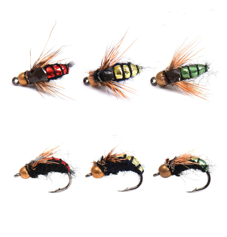 30pcs Bread Bug Fishing Lure Maggot Bionic Worm Bait Tackle Fishing Accessories