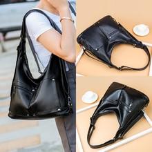 Ladies Hand Crossbody Bags Women Black Luxury Handbags Fashion Women PU Leather Shoulder Bag Designer Women Bolsas Femininas Sac цена