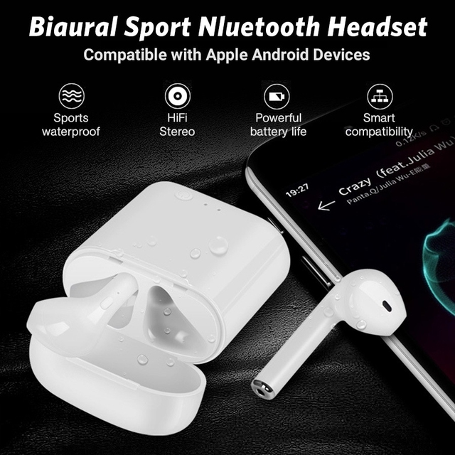 i7s Tws Wireless Headphones Bluetooth Earphones Air Earbuds Handsfree in ear Headset with Charging Box For iPhone huawei Xiaomi 4