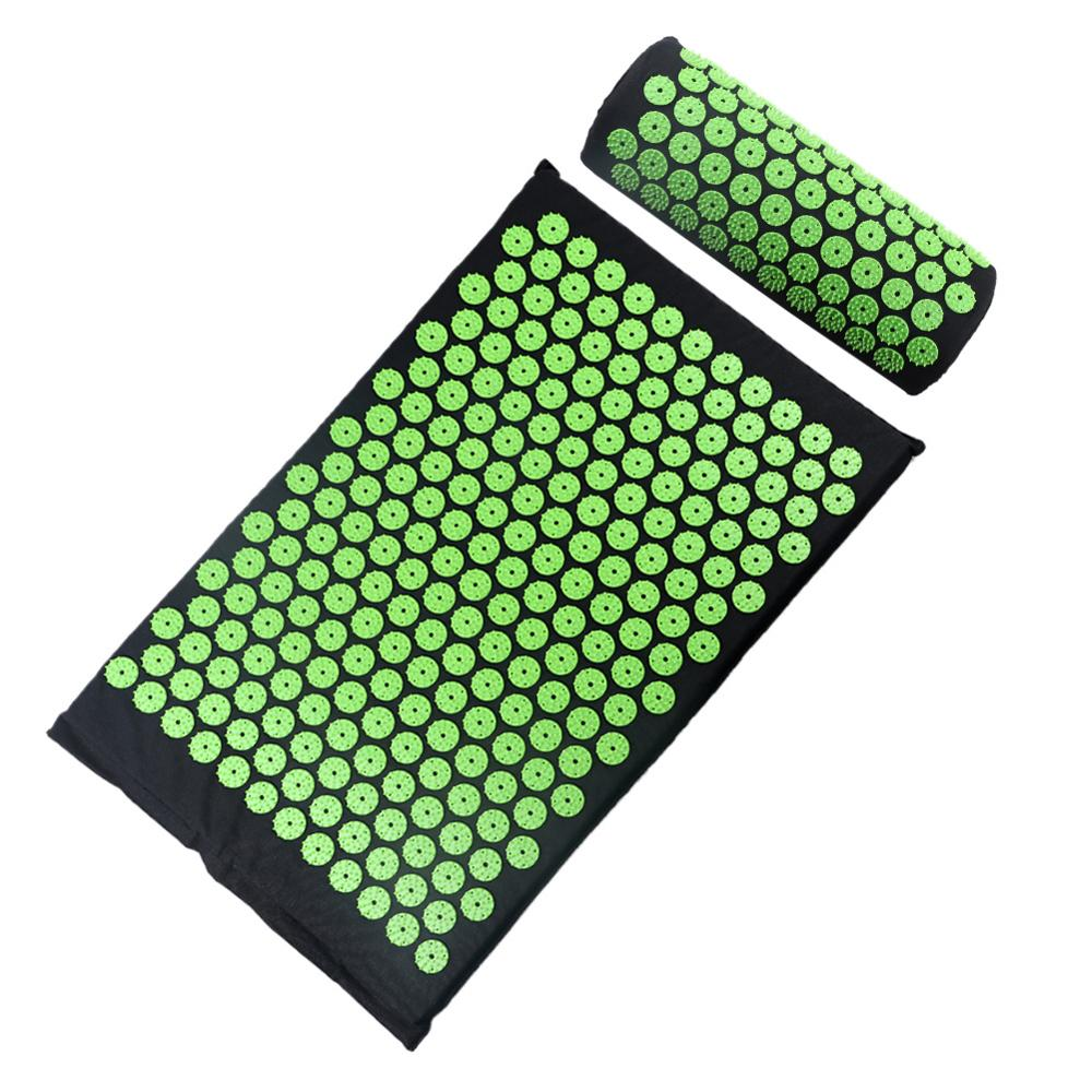 Relaxation Relief Stress Tension Yoga Mat Acupressure Massager Mat Relieve Back Body Pain Spike Cushion Relieve Stress Pain Mat