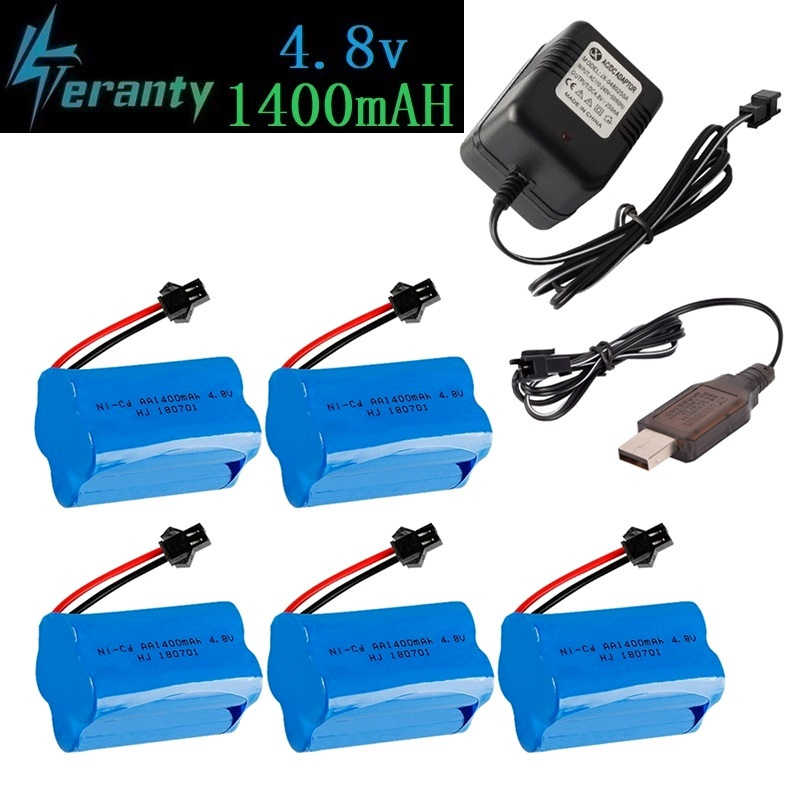 ( T Model ) 4.8v 1400mah NICD Battery For Rc toys Cars Tanks Robots Boats Guns 4.8v Rechargeable Battery 4*AA Battery Pack