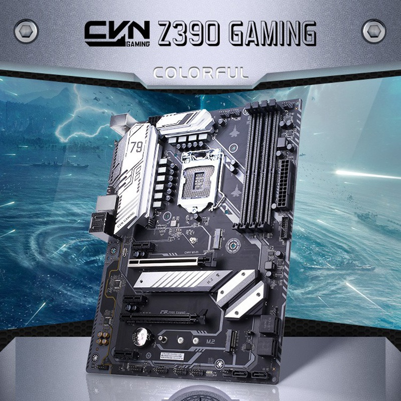 Colorful CVN Z390 GAMING V20 Motherboard Dual Channel DDR4 RAM USB3.1 Gen1/Gen2 SATA3.0 6Gb/S for Inte l LGA1151 Interface Coffe image