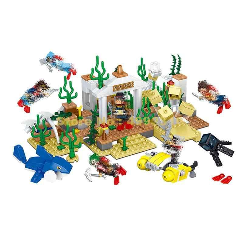 33034 6in1 mi mundo submarino mar mundo bloque de construcción Lele ladrillos de juguete