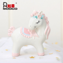 Creative Trojan Cartoon Ornaments Home Birthday Party Cake Decoration Accessories Crafts Resin Decorations Figurines Miniatures