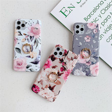 Vintage Flower Ring Phone Case For Huawei P30 Pro P20 Mate 30 Mate 20 Lite Pro Hoder Soft TPU Cover For Huawei P40 Lite Pro Case for huawei p20 lite case with ring holder for huawei mate 20 10 p20 pro p30 lite nova 5 pro coque capa for honor 10 lite cover