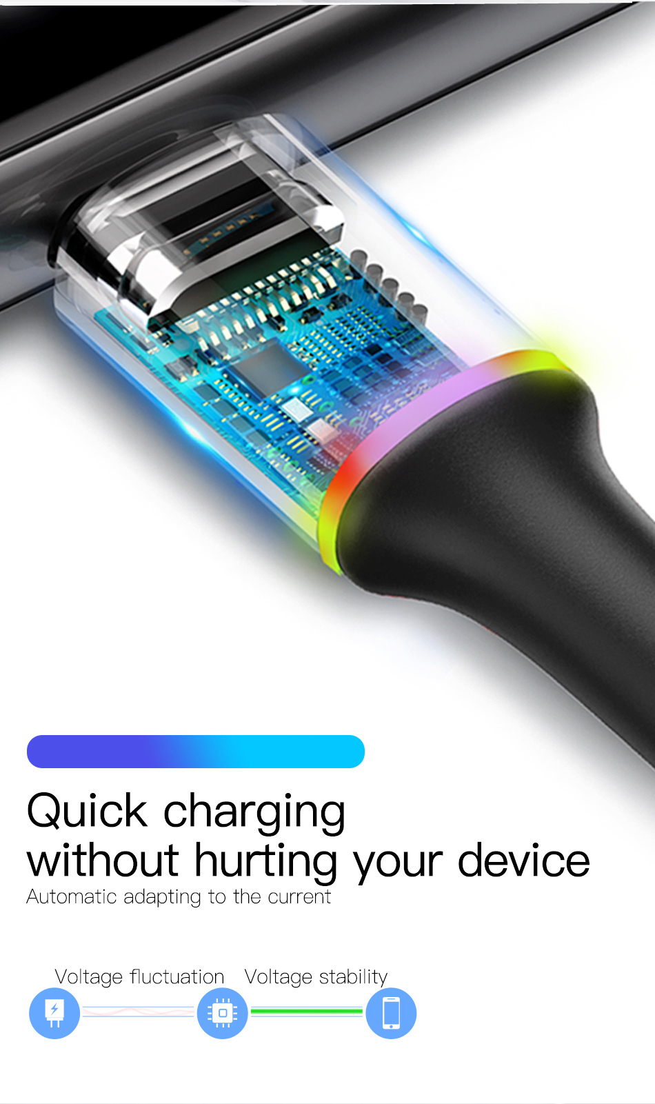 USB Type C Cable For Samsung S20 S10 Plus/ Xiaomi /Fast Charging Wire Cord USB
