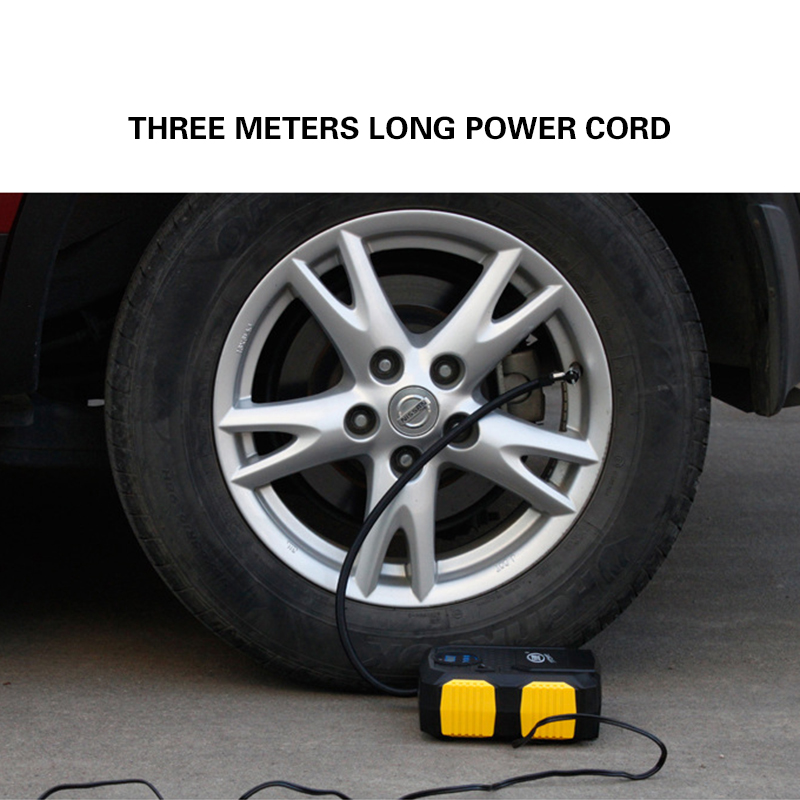 Heavy Duty 12V 120W LED Light Digital Air Pump Compressor Car Tire Tyre Inflator