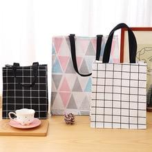 Homegrown хлопковая Льняная сумка для переноски, хранение парусина, переносная сумка, водонепроницаемый контейнер, Bento Box, сумка для модификации