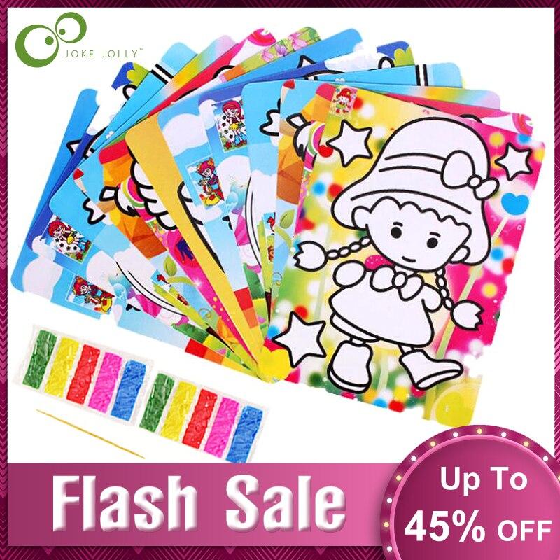 4 шт./лот 15,5*20,8 см детская цветная Песочная живопись творческие игрушки для рисования из наждачной бумаги художественные изделия игрушки дл...