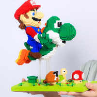 Bloques creativos de Super Marioed Bros para niños, bloques de Yoshi de dibujos animados, Mini bloques educativos, regalos