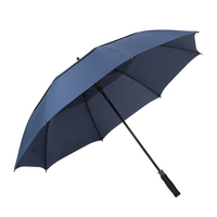 New 61 Inch Golf Umbrella Oversized Automatic Auto Open Outdoor Extra Large Double Canopy Ventilated Windproof Stick Umbrella