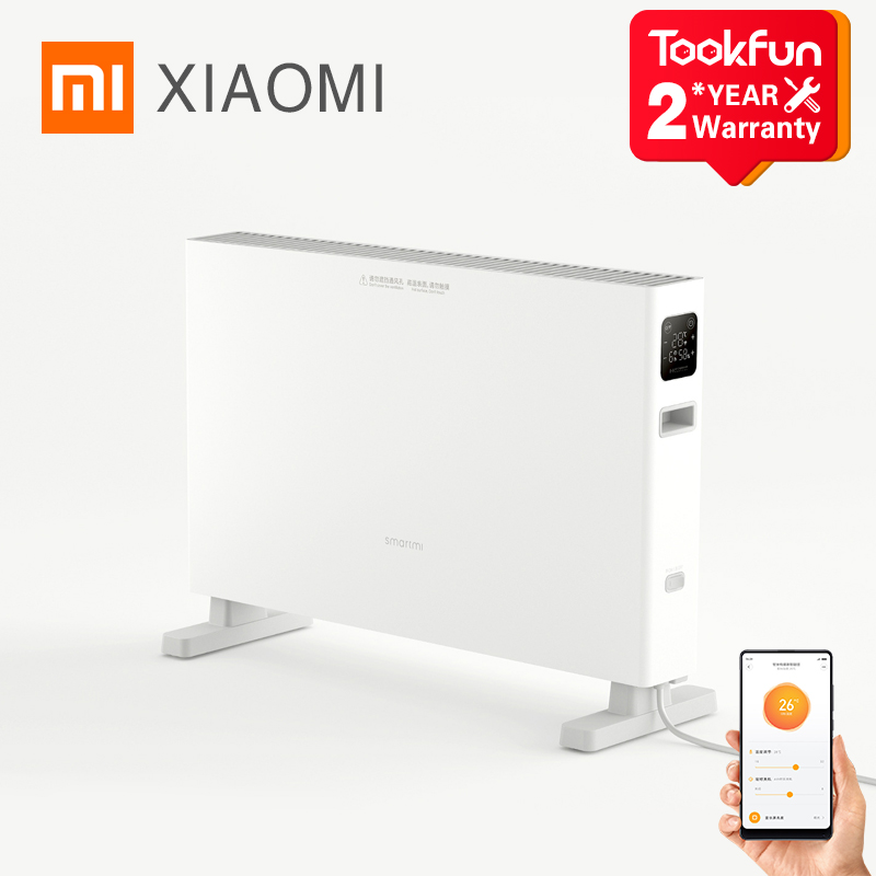 XIAOMI SMARTMI Electric Heater smart version 1S Fast handy Heaters for home room Fast Convector fireplace fan wall warmer Silent 1