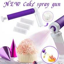 #128 manual do bolo pistola de spray bolo airbrush pintura pulverizador duster manual rega pode ferramentas de decoração do bolo cozinha ferramentas de cozimento