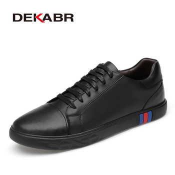 DEKARB Brand Casual Shoes Luxury Men Flats Fashion Breathable Sneakers Lace Up Genuine Leather Shoes Footwear Big Size 38-46
