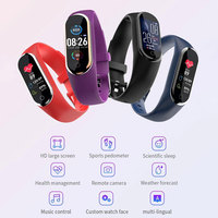 M8 Smartwatch Herz Rate Monitor EKG PPG Smart Armband Blutdruck Uhr Harten Bildschirm Armband Sitzende Erinnern Android Ios