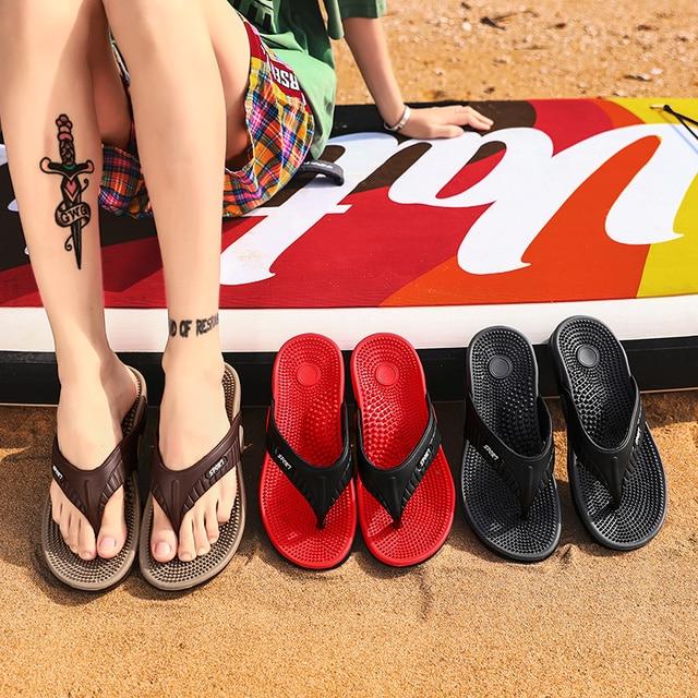 Massage Flip-flops Summer Men Slippers Beach Sandals Comfortable Men Casual Shoes Fashion Men Flip Flops Hot Sell Footwear 2021 6
