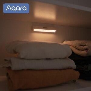 Image 4 - Aqara التعريفي LED ضوء الليل التثبيت المغناطيسي مع جسم الإنسان ضوء الاستشعار 2 مستوى السطوع 3200K درجة حرارة اللون