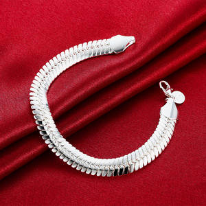 Chain Bracelet Fashion Jewelry 925-Sterling-Silver Snake Wedding WOMEN 10MM No for Noble