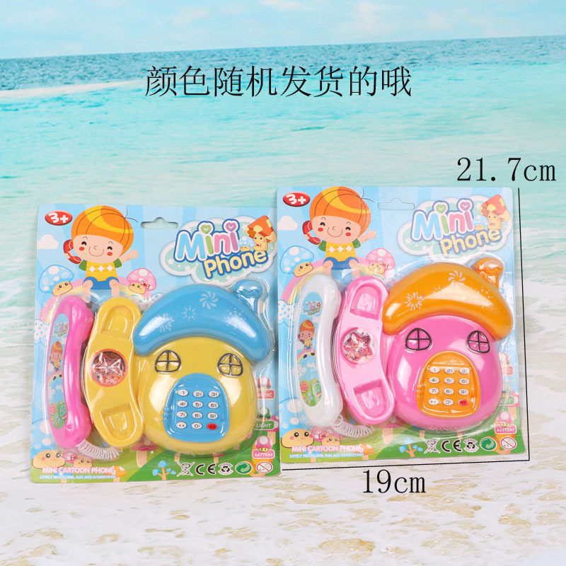 Children Early Childhood Educational Toy Model Mushroom Phone Set Music Sound Making Early Learning Machine Hot Selling